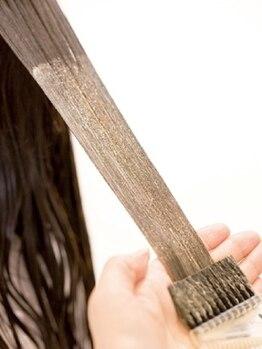 ヘアースペース ルーシー(hair space Rucy)の写真/【ヘアケアオタクRucy】2つのシードオイル(=植物種子オイル)6種類のオーガニックハーブエキスで艶髪色♪
