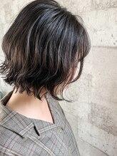 オンリエド ヘアデザイン(ONLIed Hair Design)【ONLIed】ダークグレージュ×切りっぱなしボブ