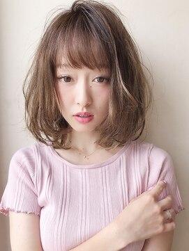 アグ ヘアー リル 志木店(Agu hair lilou)《Agu hair lilou》小顔ひし形シルエットグレージュハイライト