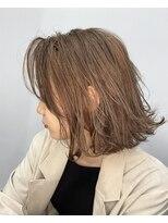 エイム ヘアメイク 横川店(eim HAIR MAKE)切りっぱミディ×ライトベージュ