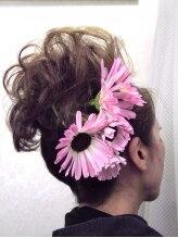 トモ美容院結婚式お呼ばれヘアセット