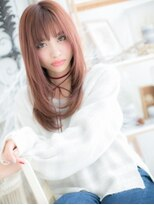 ■mod's上尾8★■ガーリーピンク★小顔カジュアルロング