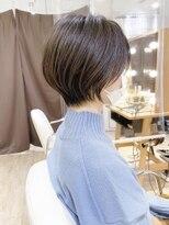 大人かわいい小顔ひし形ショートボブ30代40代50代横浜