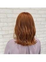 ビス ヘア アンド ビューティー 西新井店(Vis Hair&Beauty)大人かわいい/小顔/切りっぱなし/オレンジベージュ