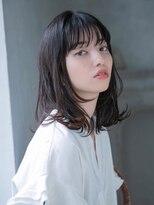 ヘアーサロン リアン 熊谷2号店(hair salon Rien)耳かけひし形でオシャレナチュラル【ダークベージュ】
