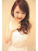 ドレッドの《natti》アプリコットピンク×柔らかミディアムロング☆画像