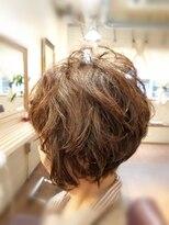 hair sos  小顔スタイルひし形ショートstyle