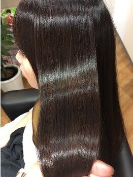 マイショウ ヘアラウンジ(My Show Hair Lounge)の写真/毛髪改善゛RARAトリートメント゛で通うたび艶髪が叶う◇しなやかにまとまる髪に導きます…♪