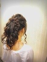 ヘアセットサロン アトリエ チャイ(Hair set salon atelier CHAI)ゆるラインな編み込みプラス♪ポニーテール
