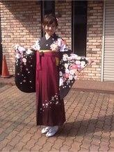 ジジ美容室(JiJi)袴着付けとヘアセット
