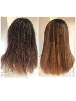 髪質改善と酸熱トリートメントで縮毛矯正と同じ様に癖が伸びる