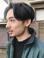 フィフス(fifth)センターパート/ニュアンスパーマ/ツーブロック/黒髪/大人○