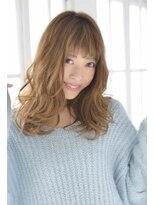 ルララドゥ透け感溢れるエアリーミディ/ラベンダーカラー/モテ髪カタログ