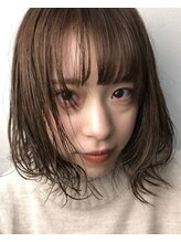 グラヘアーストーリー(gra HAIR STORY)秋冬ロブ&透明感肌映えベージュカラー