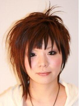 ヘアメイク オブジェ(hair make objet)個性派!アシメショート