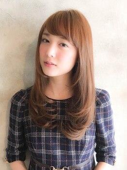 美容室 アモール(amor)の写真/大人女性を魅了する上品で優しい髪色に◎クリアな発色&艶感ある好印象な大人デザインカラーへ☆