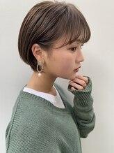 アンアミ キチジョウジ(Un ami Kichijoji)【Un ami】 丸みショート×耳かけ /ショートパーマ/黒髪