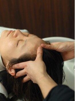 リピーヘアーデザイン(Repy Hair Design)の写真/トリートメントを使わなくても髪がスベスベ?!美容師さんの手も荒れない?!話題の「炭酸泉」で頭皮ケア!