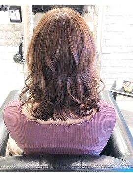 ヘアー アトリエ エゴン(hair atelier EGON)切りっぱなしロブ