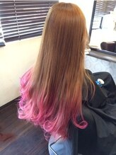 クレア ヘアー アーバン 本店(CREA hair urban)フラッシュピンクxチェリーピンク