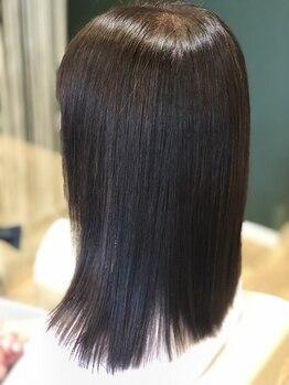 シースアクシア(X axia)の写真/《北生駒》3ステップ自家製トリートメントで健康的な美髪ストレート♪スタイリング長持ち&扱いやすい質感に