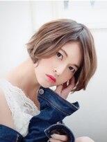 ヘアアンドメイク エジェリ(hair&make egerie)ミルクティーカラー☆エアリーショートボブ3