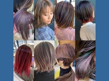 クルール(couleur)の写真/【大好評デザインカラー】couleurが叶えるハイデザインカラー!髪を健康に保ちつつトレンドを抑える職人技