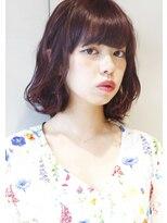 ヘアサロンガリカアオヤマ(hair salon Gallica aoyama)☆ ベリーピンク & 無造作 ☆ひし形シルエットBOB ♪
