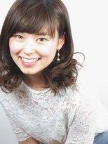 ヘアメイクエシェル 野々市店(Hair Make e‐shell)セミロングベースのゆるふわパーマスタイル☆