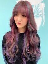 マーメイドヘアー(mermaid hair)ユニコーンカラー