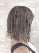 アールプラスヘアサロン(ar+ hair salon)透明感ミルクベージュ×切りっぱなしくびれ丸みショートボブ☆