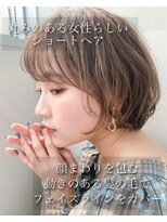 リップス 銀座店(LIPPS)【LIPPS銀座】(安田愛佳)丸みショートボブニュアンスカール
