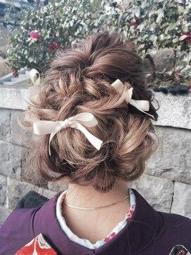 グランツヘアデザイン 四谷(GRANZ hair design)卒業式やお着物に似合うヘアセット