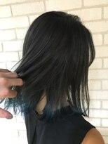 髪質改善カラー グレーバイオレット×ブルー