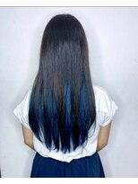 ソース ヘア アトリエ 京橋(Source hair atelier)【SOURCE】インナーコバルトブルー