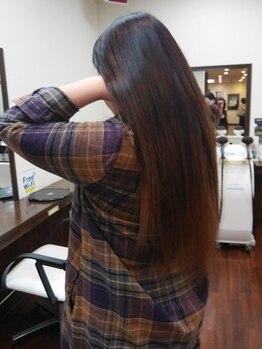 ラ クオーレ 鹿沼店(La Cuore)の写真/【贅沢うるつや、6ステップトリートメント】憧れのナチュラル美髪に。