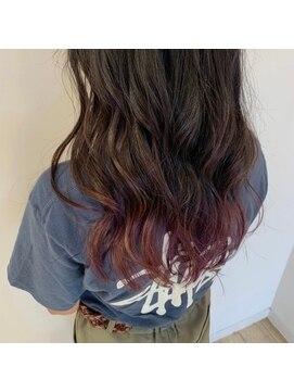 ネオヘアー 京成曳舟店(NEO Hair)ウェーブロング×裾カラー【京成曳舟】