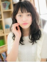 "*+COVER HAIR+*…黒髪で凛とした ""ふんわりカール""b"