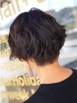 オクトヘアープラス 錦町(octo hair+)の写真/【岡山イオンすぐ】リピート率◎THROW・ナプラ等、地肌にも髪にも優しい高品質な薬剤を使用◇