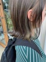 マイ ヘア デザイン(MY hair design)チラ見えグリーンカラー