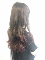 ヘアメイク オブジェ(hair make objet)pink 裾カラー