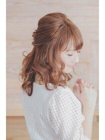 ヘアメイク リロウ(hair make relow by Nine9)ハーフアップ