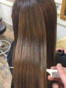 ヘアサロン シェア(hair asalon Share)の写真/≪新技術☆ストレートTR≫くせ毛の解消は薬剤を使わず、ハリスノフトリーメントで綺麗なストレートに♪