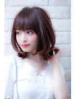 エルデ ナインズ ヘアー スタンド 川口店(elde 9's HAIR STAND)3Dカラーミニマムボブジグザグバングモードノットヘア