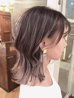 2020年春 セミロング インナーカラーの髪型 ヘアアレンジ 人気順