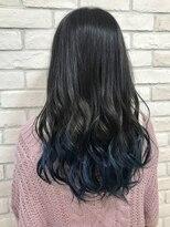 シュガー ヘアアンドネイル 仙台(SUGAR)大人可愛い上品ロング透明感×暗髪ブルーアッシュグレースタイル