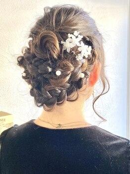 ブリック(BLiCC)の写真/360°どこから見ても綺麗なヘアセットなら《BLiCC》結婚式など特別なシーンはSNS映えするスタイルで可愛く!