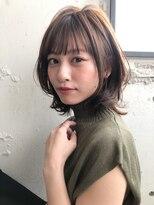 ★美髪ケア☆大人可愛いひし形小顔ボブことりベージュ毛先パーマ