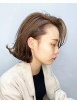 エイム ヘアメイク 横川店(eim HAIR MAKE)切りっぱミディ×ハイベージュ