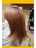 ノイズシェーン(NEU!z SCHOEN)《途中経過》ひとまずダメージ補修しながら縮毛矯正&カラー。